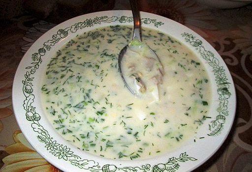Okroshka soupe russe